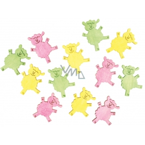 Wooden sheep 4 cm, 12 pcs