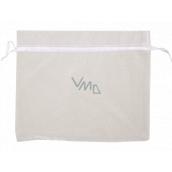 Organza bag white 24 x 20 cm