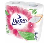 Linteo Care & Comfort toilet paper white 2 ply, 150 pieces and 17 m, 4 pieces
