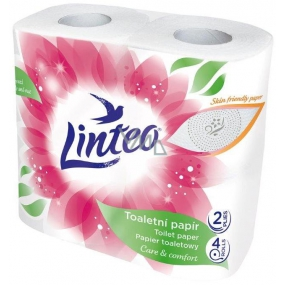 Linteo Care & Comfort toilet paper white 2 ply 4 pieces