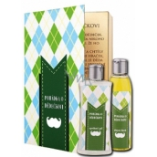 Bohemia Gifts & Cosmetics Fairy tale about grandfather shower gel 250 ml + oil bath 200 ml (with pleasant citrus aroma). book cosmetic set
