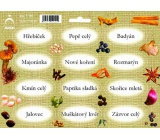 Arch Spice stickers Jute color print Cloves - basic types of spices