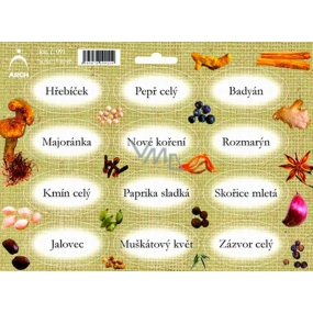 Arch Spice Stickers Jute Color Printing Clove - basic types of spices