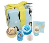 Bomb Cosmetics Balloon penguin party 2x160 g + butter block 2x50 g + ball 30 g + soap 100 g, cosmetic set