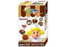 Jumping Clay Čokoláda - Pekárna samoschnoucí modelovací hmota 45 g + papírová maketa + tvořítko, pro děti 5+