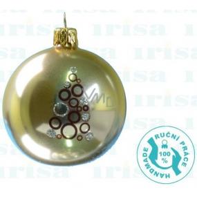 Irisa Gold glass flasks, sapling rings, set of 6 cm 12 pieces