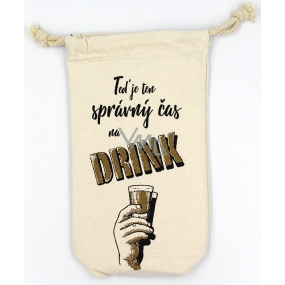 Nekupto Cheers Bottle Bag Now is the right time to drink 26 x 15 x 5 cm