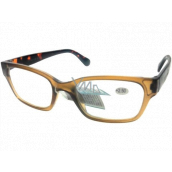 Berkeley Reading glasses +1.5 plastic light brown, tiger side 1 piece ER4198