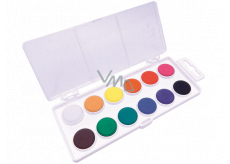 Koh-i-Noor School watercolors, white background 22.5 mm 12 colors