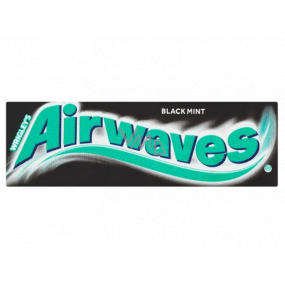 Wrigleys Airwaves Black Mint chewing gum 10 pcs, 14 g