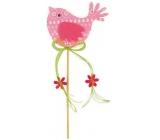 Bird of Fillet pink-white decoration recess 7cm + skewels