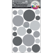 Room Decor Wall stickers circles gray 60 x 32 cm