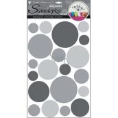 Wheel wall stickers gray 60 x 32 cm