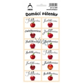Arch Stickers Home Brandy Jablkovice 12 labels