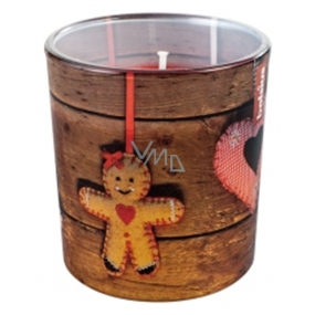 Bolsius Christmas gingerbread scented candle in glass 72 x 80 mm