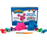 Mad Mattr Kinetic sand modeling Creative set pink 140 g + blue 140 g + cookie cutters 6 pieces