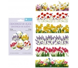 Shrink foil decoration for eggs Spring flowers 12 pieces