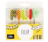 Albi Cake candles name - Filip, 2,5 cm