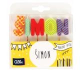 Albi Cake candles name - Simon, 2.5 cm