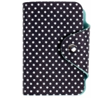 Albi Card holder with stud fastening Dots 7.5 x 10.7 x 2.5 cm