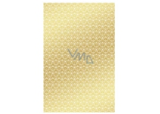 Ditipo Wrapping paper gold with white ornaments 100 x 70 mm 2 pieces