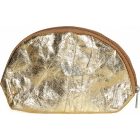 Albi Eco Cosmetic Bag Made of Washable Paper Gold 22 x 14 x 6 cm