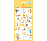 Arch Household stickers, for gifts Happy Birthday yellow 11 x 23.5 cm