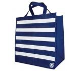 Shopping fabric bag stripes 34 x 36 x 22 cm