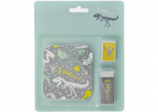 Albi Set of stickers, sharpener and rubber Dino 14 x 17 cm