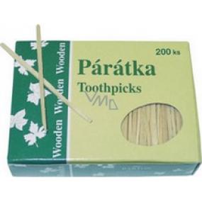 Barton Wooden toothpicks flat 200 pieces