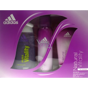 Adidas Natural Vitality 250 ml shower gel + 150 ml deodorant spray + 150 ml body lotion for women