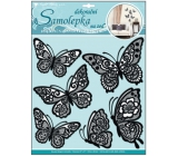 Room Decor Wall stickers butterflies with moving lace black wings 39 x 30 cm 1 arch