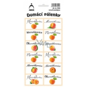 Arch Stickers Home Brandy Apricot 12 labels