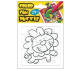 Collage coloring book Lev 25 pieces 18 x 12 cm