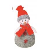 Snowman gray knit 17 cm