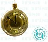 Irisa Flask clock gold 6,5 cm