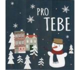 Nekupto Mini greeting card for Christmas, For you 10 x 10 cm 3528 XI
