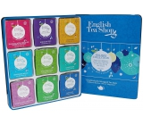 English Tea Shop Bio Blue decorations Black tea with chocolate, cherries and coconut + Moroccan spices + Pungent peach + Mint and melon + White mint bark + Coconut Chai + Sweet rosehip with cinnamon + Apple, cinnamon and Earl Gray + Sweets, 72 pieces, 9 flavor of 8 infusion bags, gift set in tin box