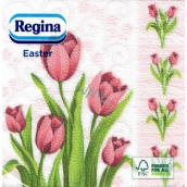Regina Easter paper napkins Tulips 1 ply 33 x 33 cm 20 pieces