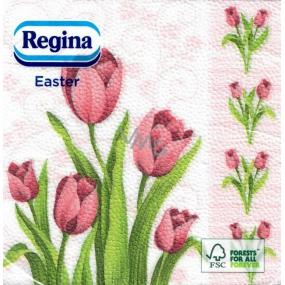 Regina Easter paper napkins Tulips 1 ply 33 x 33 cm 20 pieces