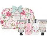 Baylis & Harding Royal Garden shower cream 100 ml + shampoo 100 ml + body lotion 50 ml + conditioner 50 ml + washable cosmetic bag with zipper, floral motifs, cosmetic set