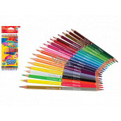 Colorino Crayons triangular, double-sided 24 colors