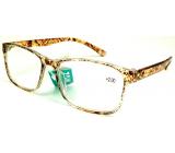 Berkeley Reading glasses +2.0 plastic brown dots 1 piece MC2181