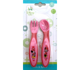 Disney Baby Minnie Mouse cutlery pink for children 4+ months