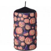 Emocio Angry Pumpkin candle black cylinder 60 x 110 mm