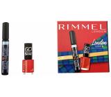 Rimmel London Extra Super Lash Mascara 101 black 8 ml + 60 Seconds Super Shine Nail Polish 315 Queen Of Tarts 8 ml, cosmetic set