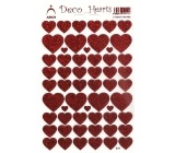 Arch Holographic decorative stickers heart shapes red