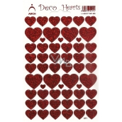 Arch Holographic decorative heart stickers red 411