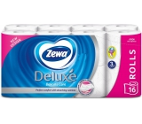 Zewa Deluxe Aqua Tube Delicate Care toilet paper 3 ply 150 pieces 16 pieces, roll that can be washed