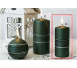 Lima Sparkling candle green matte roller 60 x 120 mm